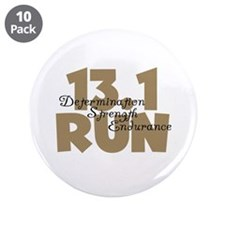 "13.1 Run Tan 3.5"" Button (10 pack)"