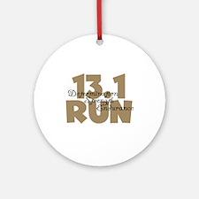 13.1 Run Tan Ornament (Round)