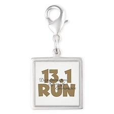 13.1 Run Tan Silver Square Charm