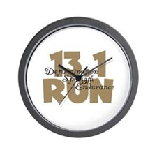 13.1 Run Tan Wall Clock