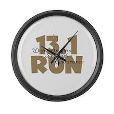 13.1 Run Tan Large Wall Clock