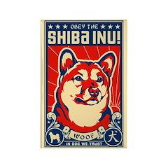 Obey the SHIBA INU! Propaganda Magnet