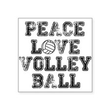Peace, Love, Volleyball Sticker