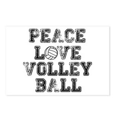 Peace, Love, Volleyball Postcards (Package of 8)