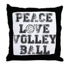 Peace, Love, Volleyball Throw Pillow