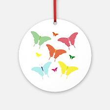 PolkaDot Butterflies Ornament (Round)