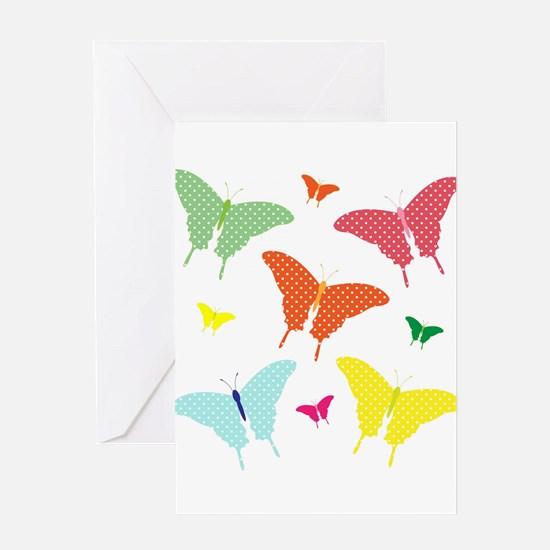 PolkaDot Butterflies Greeting Card