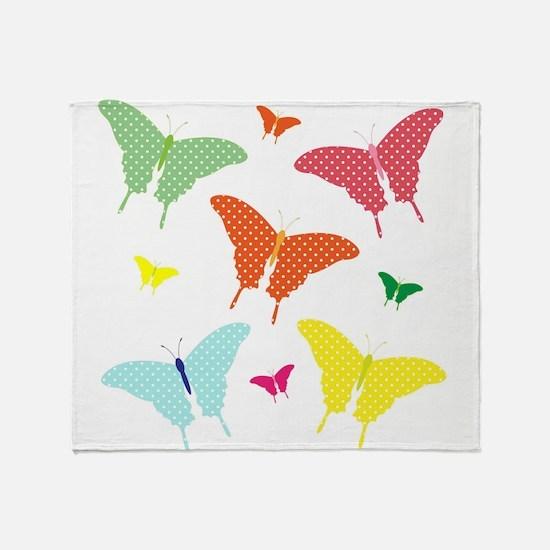 PolkaDot Butterflies Throw Blanket