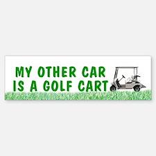 My Other Car is a Golf Cart bumper sticker