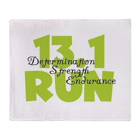 13.1 Run Yellow Throw Blanket