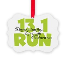 13.1 Run Yellow Ornament