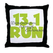13.1 Run Yellow Throw Pillow