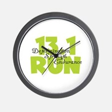 13.1 Run Yellow Wall Clock