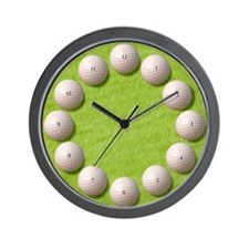 GOLF BALLS Wall Clock