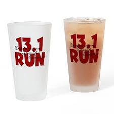 13.1 Run Red Drinking Glass