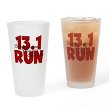 13.1 Run Red Drinking Glass