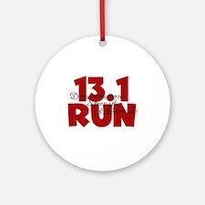13.1 Run Red Ornament (Round)