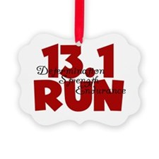13.1 Run Red Ornament