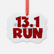 13.1 Run Red Ornament