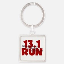 13.1 Run Red Square Keychain