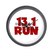 13.1 Run Red Wall Clock