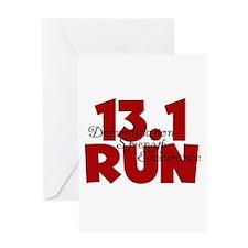 13.1 Run Red Greeting Card