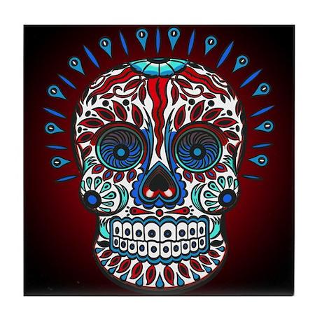 Decorative Mexican Skull Tile Coaster