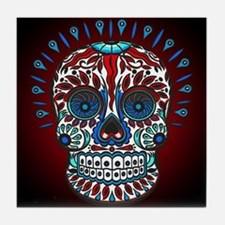Decorative Mexican Skull Tile Coaster