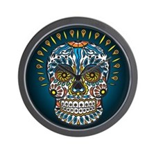 Decorative Mexican Skull Wall Clock