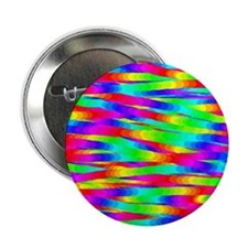Horizontal Rainbow Zig-Zags Button