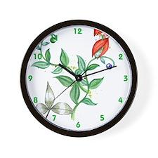 Floral Blend Clock Wall Clock