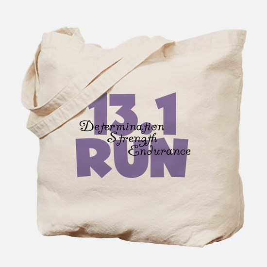 13.1 Run Purple Tote Bag