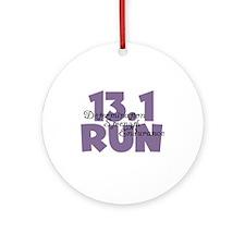 13.1 Run Purple Ornament (Round)