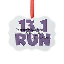 13.1 Run Purple Ornament