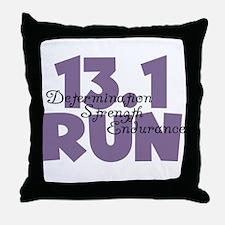 13.1 Run Purple Throw Pillow