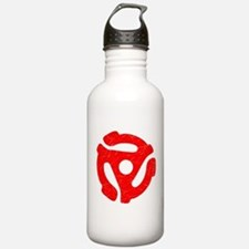 Red Distressed 45 RPM Adapter Water Bottle