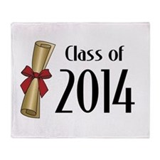 Class of 2014 Diploma Throw Blanket