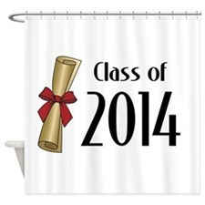 Class of 2014 Diploma Shower Curtain