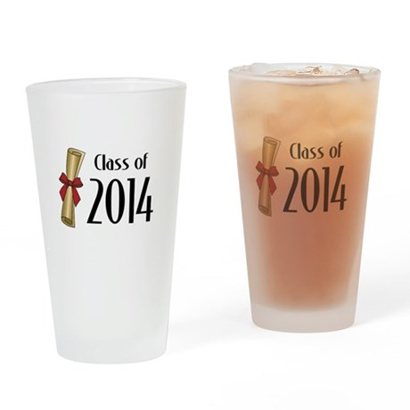 Class of 2014 Diploma Drinking Glass