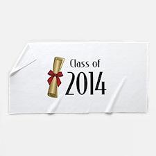 Class of 2014 Diploma Beach Towel