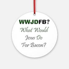 Jesus Bacon Ornament (Round)