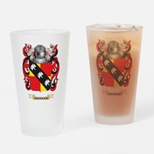 Hannan Coat of Arms (Family Crest) Drinking Glass