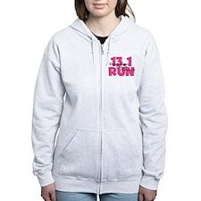 13.1 Run Pink Zip Hoody