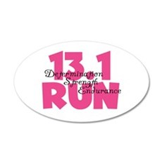 13.1 Run Pink Wall Decal