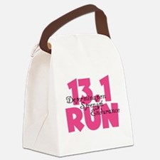 13.1 Run Pink Canvas Lunch Bag