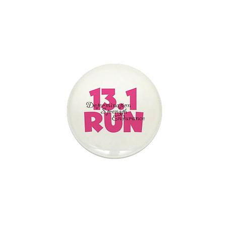 13.1 Run Pink Mini Button (10 pack)