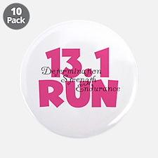 """13.1 Run Pink 3.5"""" Button (10 pack)"""