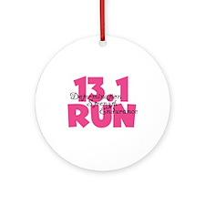 13.1 Run Pink Ornament (Round)