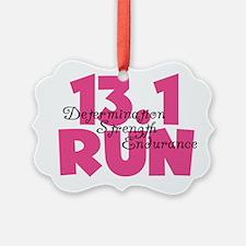13.1 Run Pink Ornament