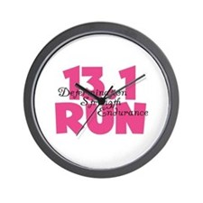 13.1 Run Pink Wall Clock